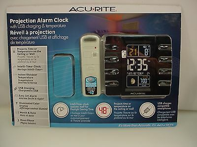 AcuRite Intelli-Time Projection Clock with Temperature & USB Charger 13020