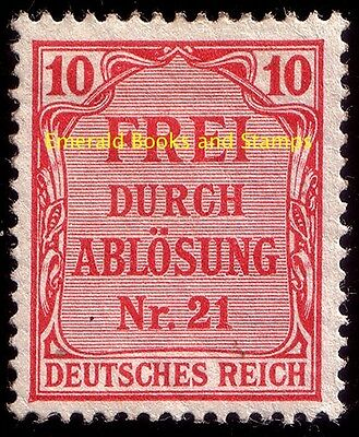 EBS Germany 1903 Official 10 Pfennig Michel Dienst 4 MNH**
