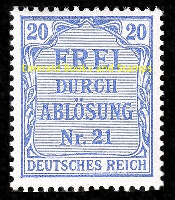 EBS Germany 1903 Official 20 Pfennig Michel Dienst 5 MNH**