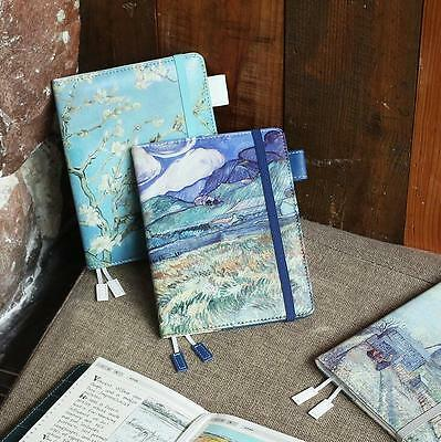 Art Fashion PU Leather Journal Undated Daily Planner A6 120 Sheets