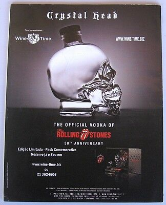 Crystal Head the official vodka of the Rolling Stones rare ad