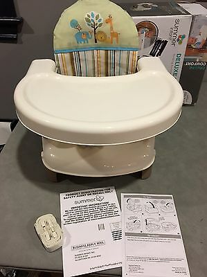Summer Infant Deluxe Comfort Folding Booster Seat Tan New Open Box
