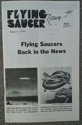 Vintage Flying Saucer News-August 1966-Ufo's, Occult-Rare