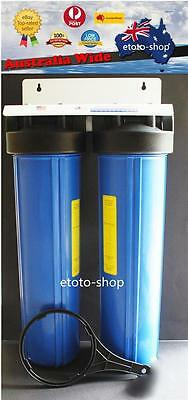 "20""x 4.5"" Big Blue Whole House Water Filter System INCLUDING FILTERS"