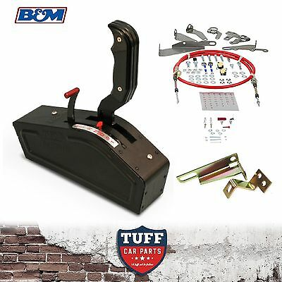 Holden Trimatic 3Sp Auto B&M Stealth Pro Ratchet Shifter + Drivers Side Bracket