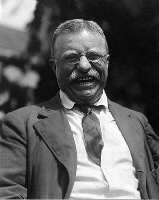 US President THEODORE 'TEDDY' ROOSEVELT Glossy 8x10 Photo Print Laughing Poster