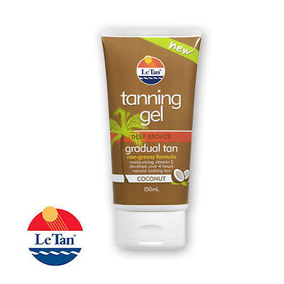 Le Tan Gradual Tanning Gel Deep Bronze, Non-Greasy Formula 150ml- New