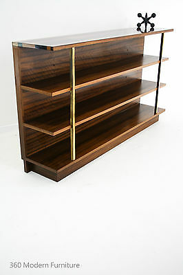 Mid Century Wall Unit Bookcase Shelves Retro Vintage Dario Zoureff Brass Display