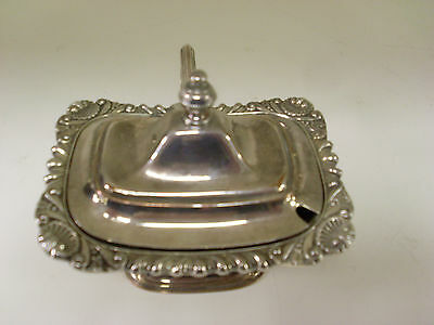 Victorian Silver Plate Mustard Pot With Liner (Spoon Missing)      (Su)