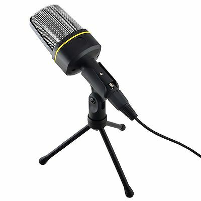 3.5mm Studio Speech Mic Microphone Micphone Stand for Skype Desktop PC Notebook