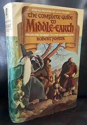 The Complete Guide to Middle Earth, Robert Foster 1978 Hardback Enlarged Ed VGC