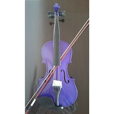 Student Acoustic Violin Full 4/4 Maple Spruce with Case Bow Rosin Purple