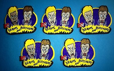 5 Lot MTV's Bevis & Butthead T.V. Show Collectable Crew Jacket Hat Patches