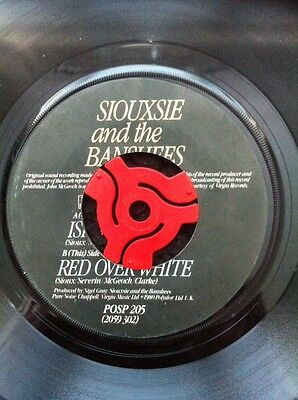 "Siouxsie And The Banshees - Israel b/w Red Over White 7"" Vinyl Polydor POPS 205"