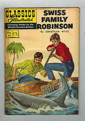 CLASSICS ILLUSTRATED COMIC No. 42 Swiss Family Robinson  HRN 126