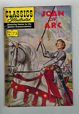 CLASSICS ILLUSTRATED COMIC No. 78 Joan of Arc HRN 129