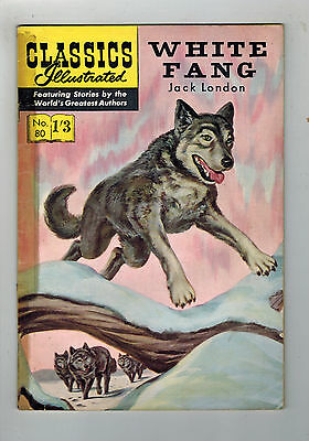 CLASSICS ILLUSTRATED COMIC No. 80 White Fang HRN 129