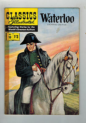 CLASSICS ILLUSTRATED COMIC No. 18 Waterloo HRN 126