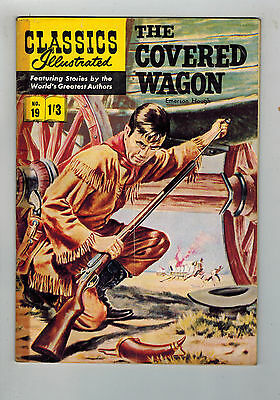 CLASSICS ILLUSTRATED COMIC No. 19 The Covered Wagon HRN 126