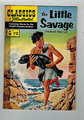 CLASSICS ILLUSTRATED COMIC No. 26 The Little Savage HRN 126