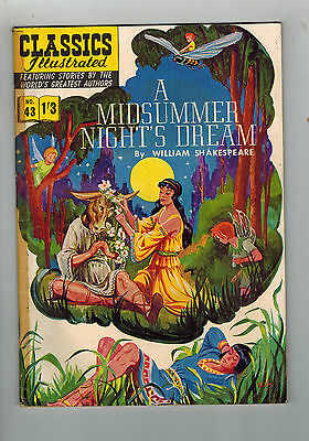 CLASSICS ILLUSTRATED COMIC No. 43 A Midsummer Night's Dream HRN 126