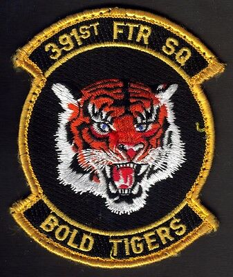 USAF 391st FIGHTER SQUADRON BLAZER PATCH BOLD TIGERS VIET NAM EMBROIDERED