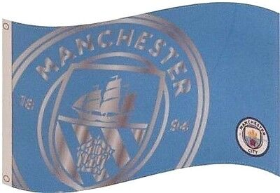 MANCHESTER CITY FC CLUB SINCE FLAG 5ft X 3ft LICENSED FOOTBALL PRODUCT MCFC