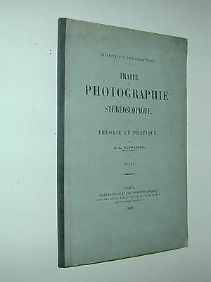 ATLAS du TRAITE Photographique STEREOSCOPIQUE DONNADIEU 1892 photo photographie