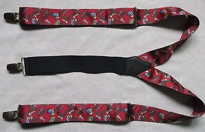 VINTAGE MENS SILK BRACES RETRO 1980s 1990s STOCKBROKER FOREX TRADER CHRISTMAS