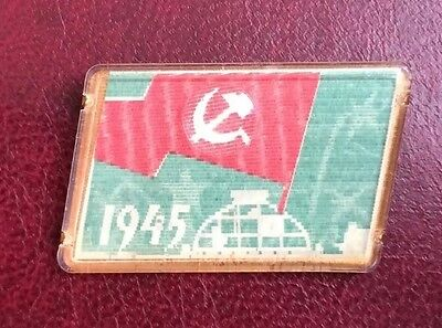 UdSSR 9 May Victory Day hammer and sickle Pin Abzeichen Wackelbild 3D LENTICULAR