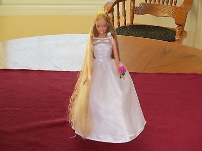 Barbie Rapunzel Wedding Doll With Light Up Crown