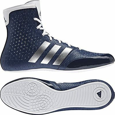 Adidas KO Legend Boxing Boots Blue & White Sparring Fight Shoes