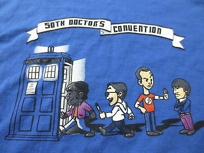 Dr Who 50th Anniversary Doctor's Convention T-Shirt with Big Bang Theory Cast
