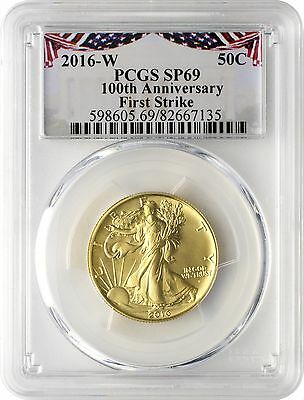 2016-W Gold Walking Liberty Half Dollar Centennial PCGS SP69 First Strike - BNT