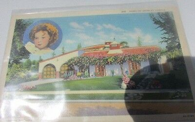 Shirley Temple Original 1936 Photo Post Card Shirley's Home Color #810 Fox 4x6