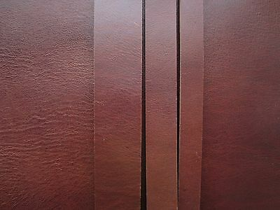 "50"" LONG BROWN 3.5mm THICK COW HIDE LEATHER STRAP EMBOSSED VARIOUS WIDTH Azzaro"