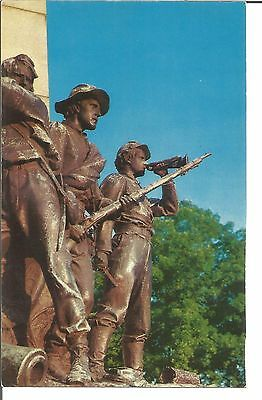 (M) Study of Bronze Confederate Soldiers at Base of Virginia Mem Gettysburg, Pa.