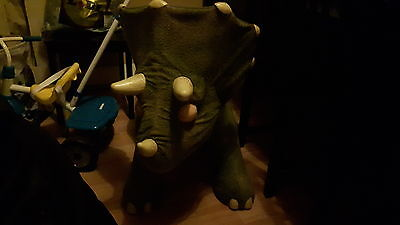 Playskool Kota Baby Triceratops Dinosaur Interactive Ride On Toy With Leaf Rare!