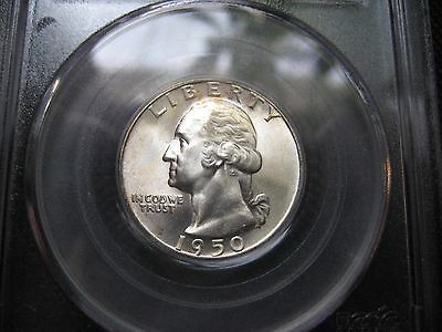 1950-S Pcgs Ms-66 Washington Quarter