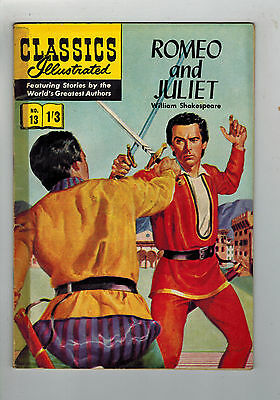 CLASSICS ILLUSTRATED COMIC No. 13 Romeo and Juliet HRN 126