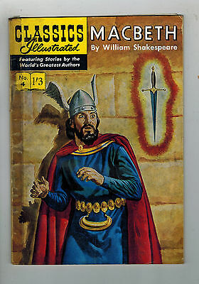 CLASSICS ILLUSTRATED COMIC No. 4 MacBeth HRN 129