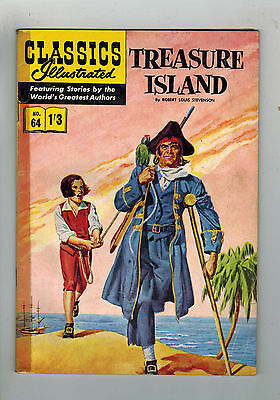 CLASSICS ILLUSTRATED COMIC No. 64 Treasure Island HRN 126