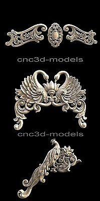 3D STL Models for CNC Router Engraver Carving Artcam Aspire Decor 275