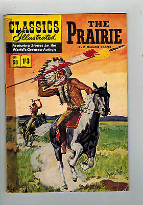 CLASSICS ILLUSTRATED COMIC No. 58 The Prarie HRN 126