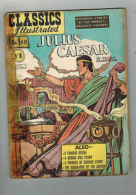 CLASSICS ILLUSTRATED COMIC No. 68 Julius Caesar HRN 82