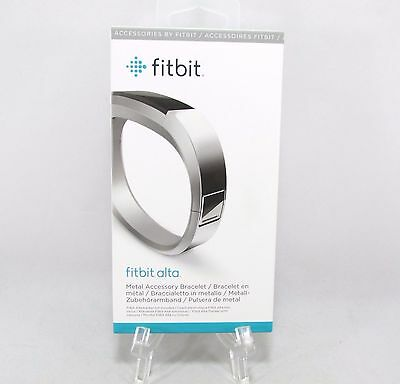 Fitbit Alta, Accessory Band, Metal Bracelet, Silver, One Size