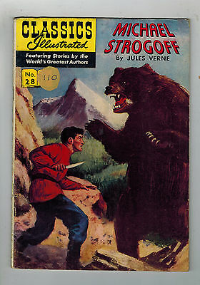 CLASSICS ILLUSTRATED COMIC No. 28 Michael Strogoff HRN 115