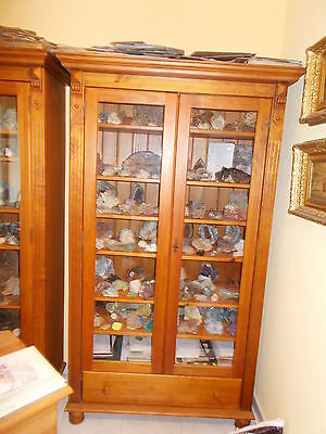 Armoire Vitrine Avec Rayonnages En Pin Massif Du Bresil.rangement Collection