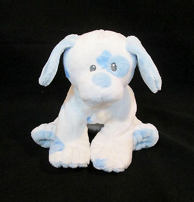 "8"" Ty Pluffies Plush Blue & White Baby Pups Puppy Dog- Stuffed Animal 3+"