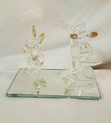 GLASS BLOWN Kangaroo & Koala Bear Figurine FREE SHIPPING